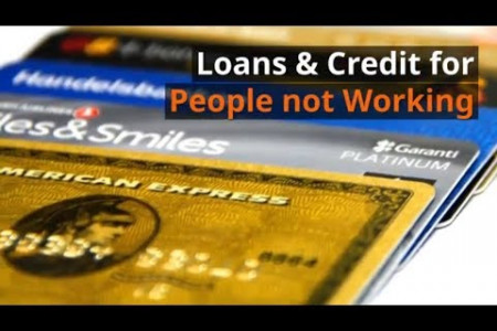 Loans & Credit for people who aren't working or are unemployed Infographic