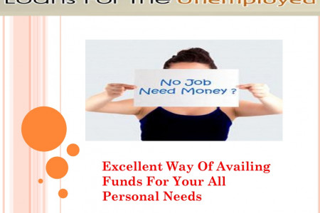 Loans For Unemployed Get Quick Cash Support With Less Formalities Infographic