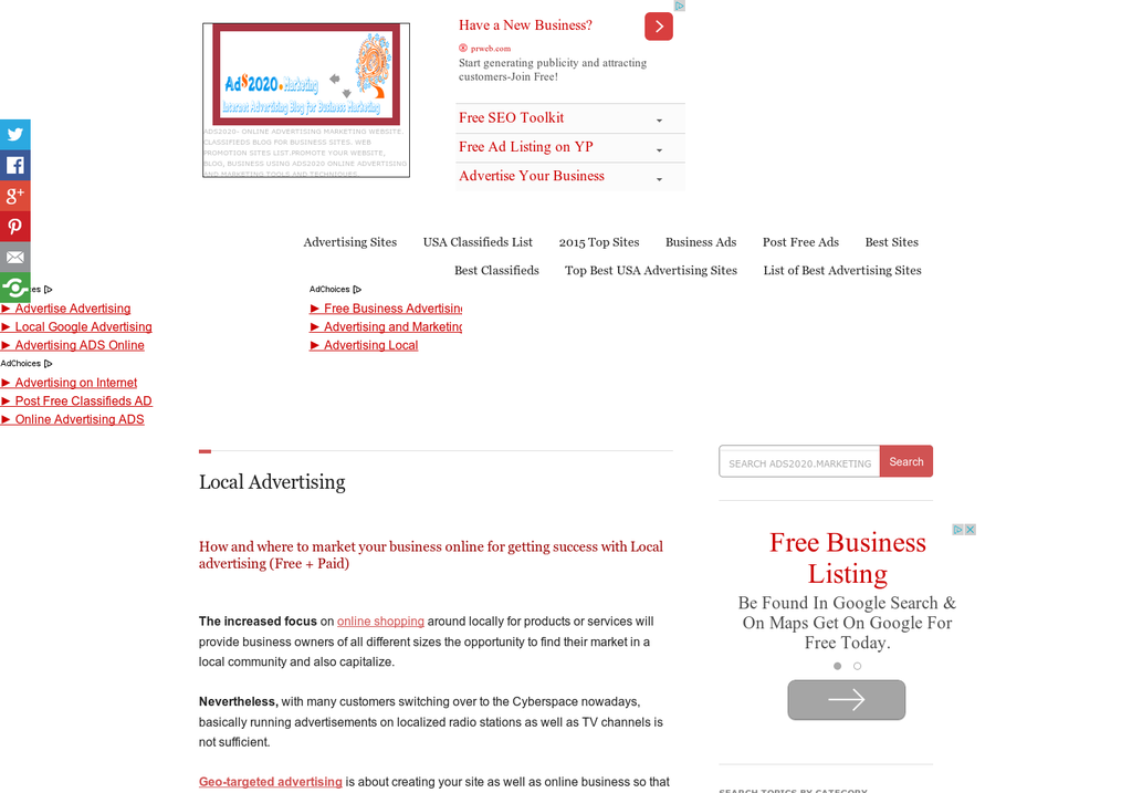 Local advertising websites for small business owners and advertisers