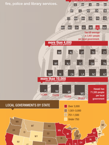 Local government by the numbers Infographic