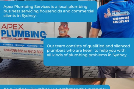 Local Plumber Sydney - Apex Plumbing Services Infographic