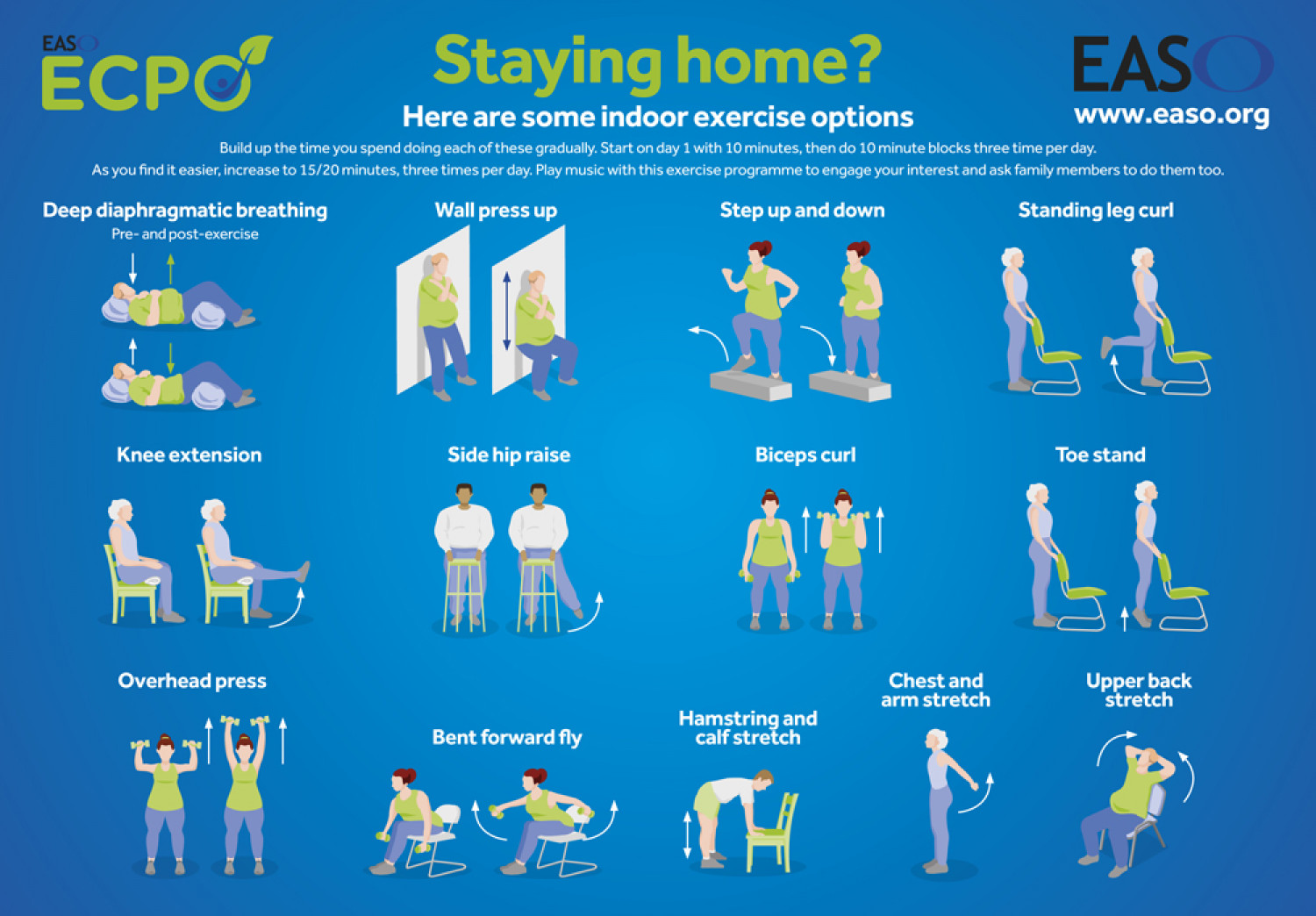 Lockdown indoor exercise infographic design Infographic