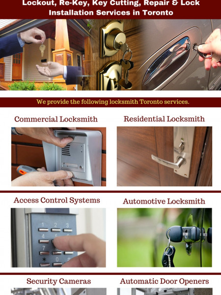 Locksmith Repair & Installation Services Toronto Infographic