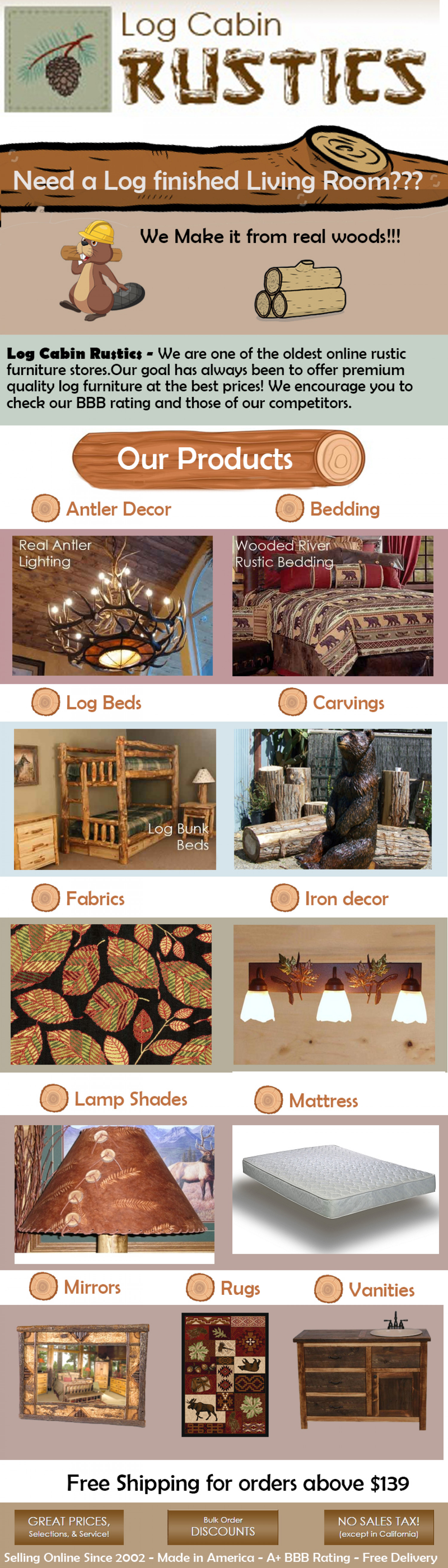 Log Cabin Rustics Infographic Infographic