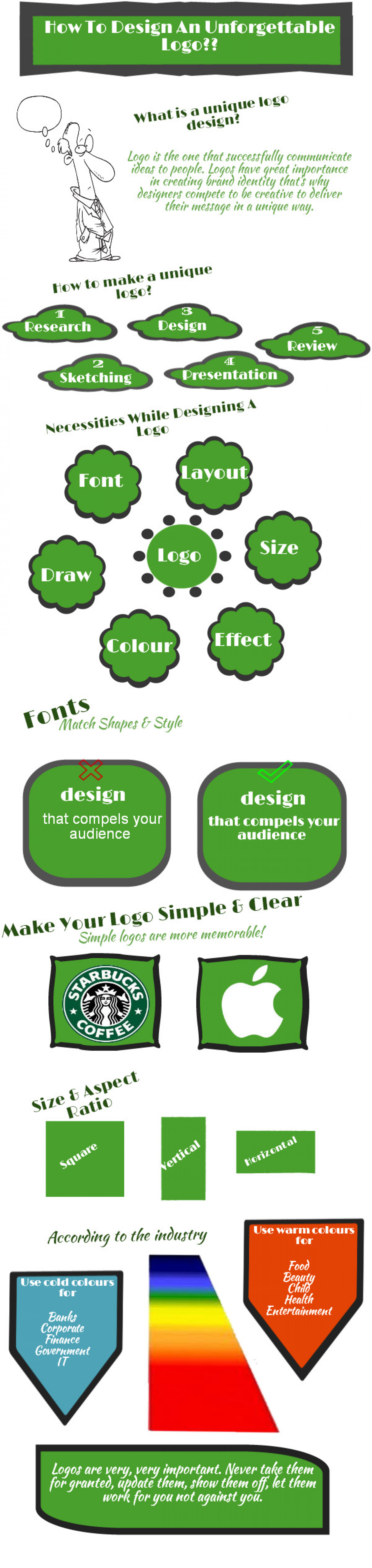 How To Design An Unforgettable logo ?? Infographic