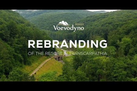 Logo rebranding, brand book creation for Voevodyno resort Infographic