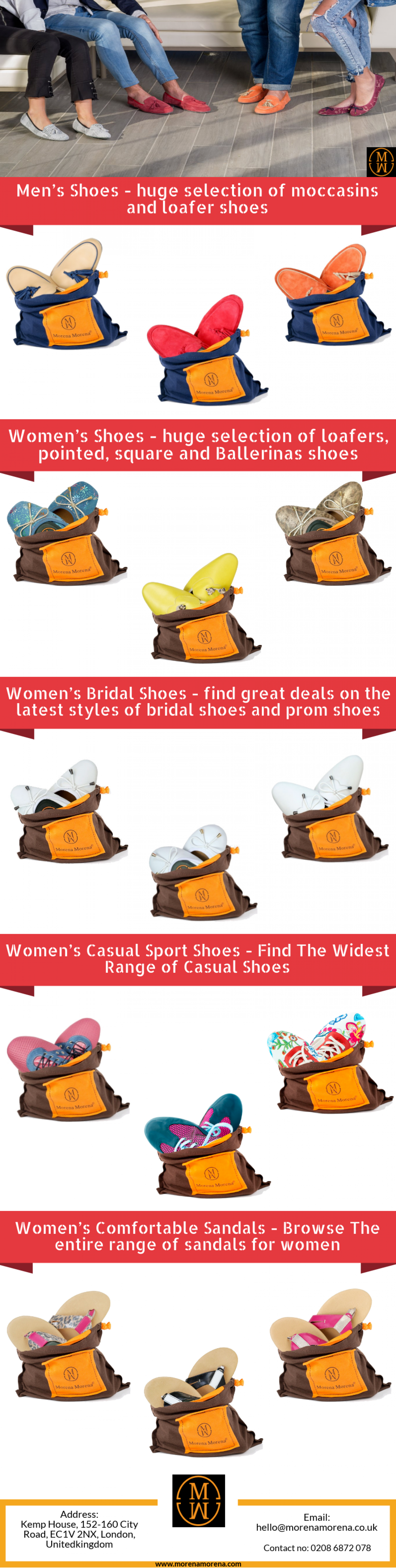 London Based Online Shoes Store For Men, Women & Kids - Morena Morena Shoes Infographic
