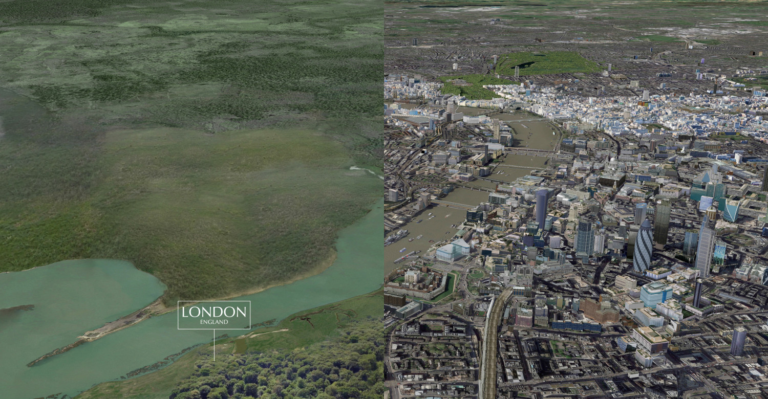 London Before Buildings Infographic