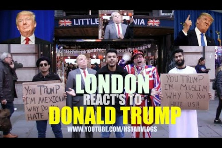 LONDON REACTS TO DONALD TRUMP!!! Infographic