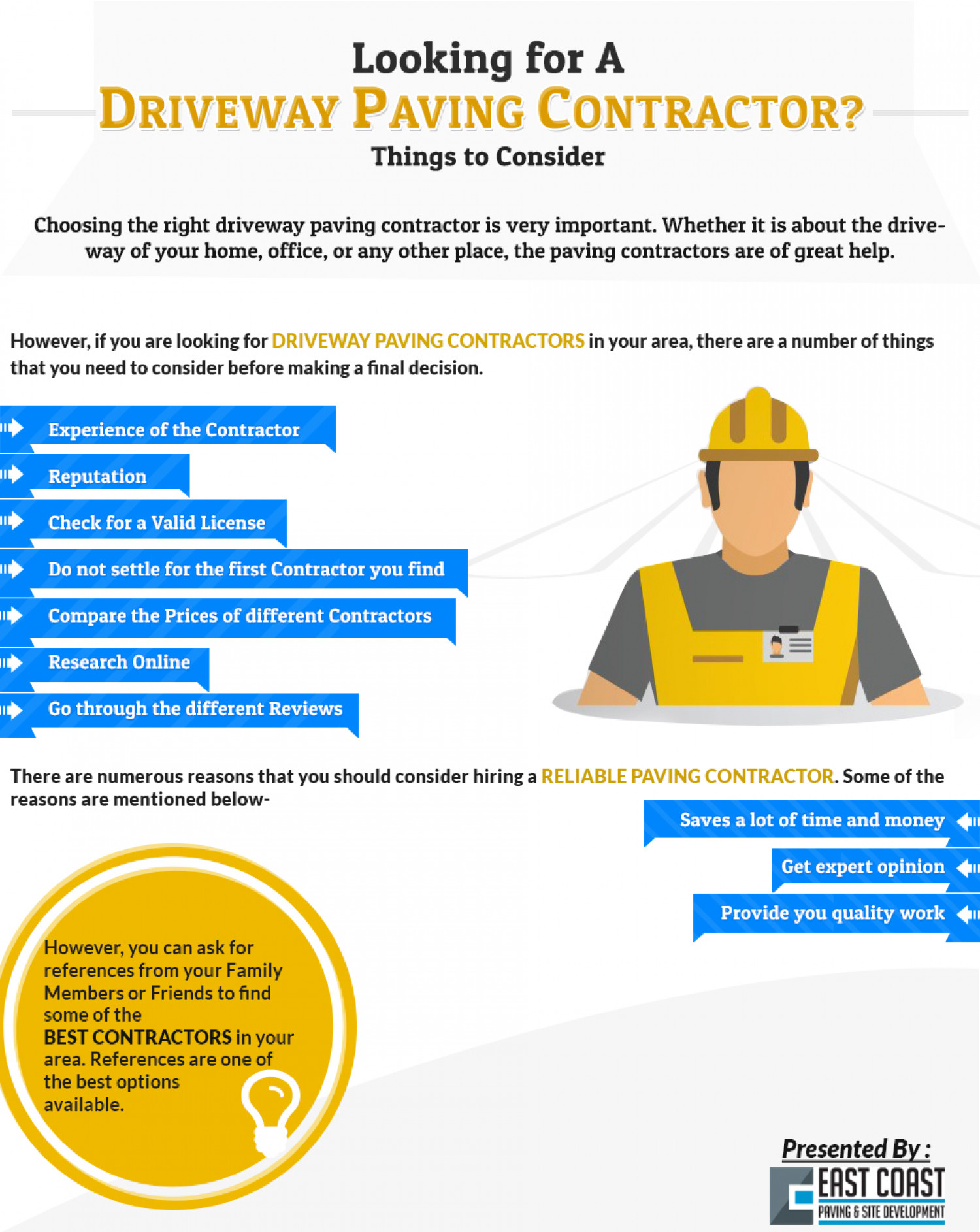 Looking for a Driveway Paving Contractor ? Things to Consider Infographic
