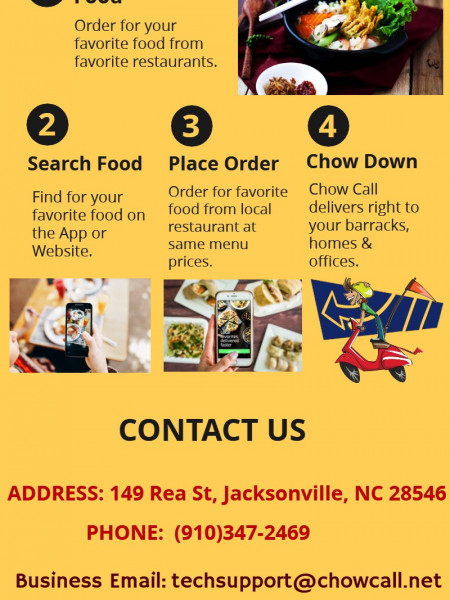 Looking For Best Food Delivery Service In Jacksonville - Order with Chow Call Now  Infographic
