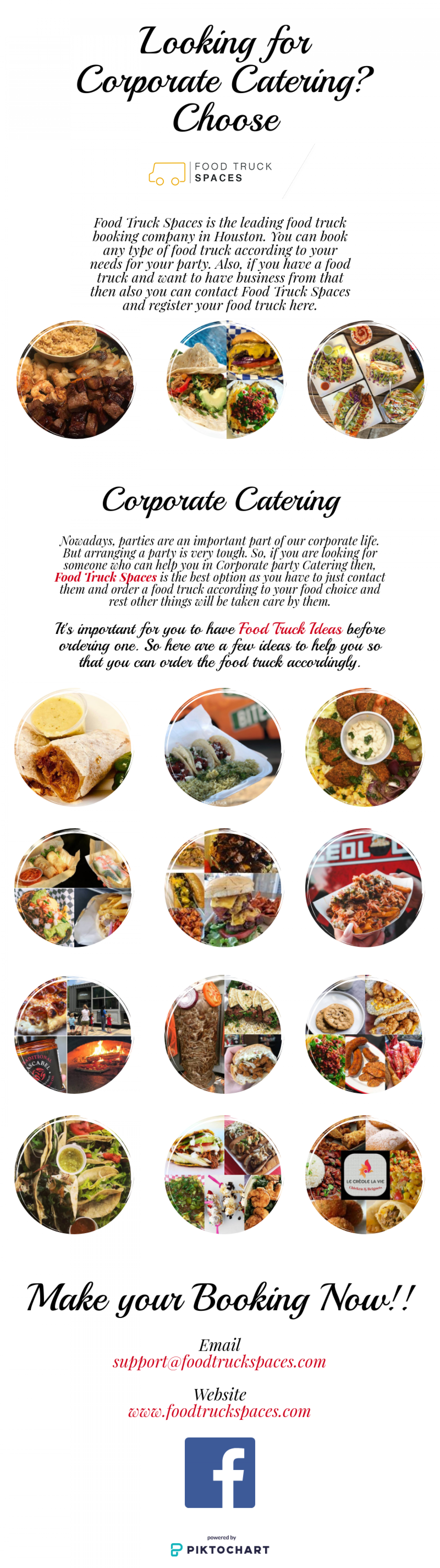 Looking for Corporate Catering? Choose Food Truck Spaces Infographic