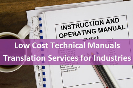 Low Cost Technical Manuals Translation Services for Industries Infographic