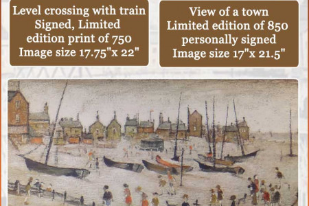 Lowry Limited Edition Prints at Corn Water Fine Art Gallery Infographic