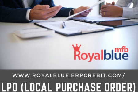LPO (Local Purchase Order) Finance - Royalblue MFB Infographic