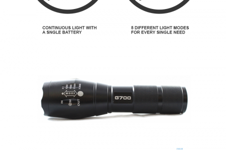 Lumitact G700 Flashlight Specifications Overview Infographic
