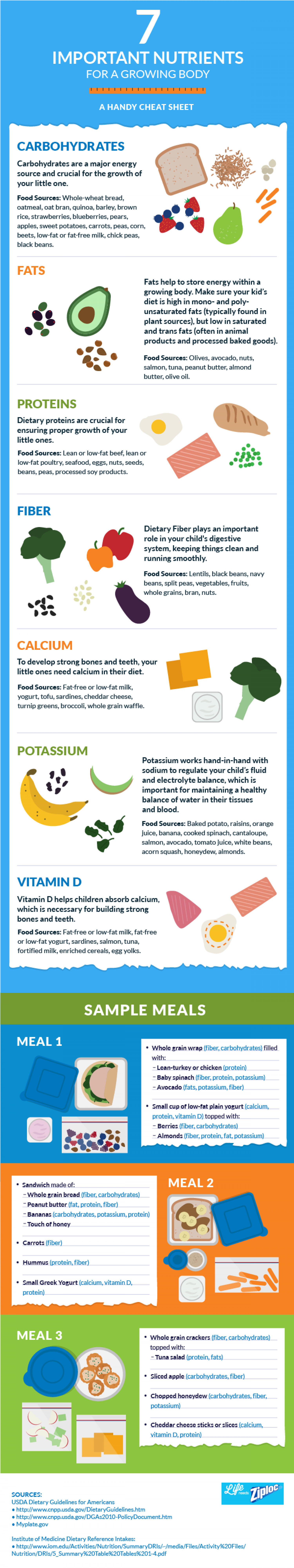 Lunchtime Nutrition at Every Age Infographic