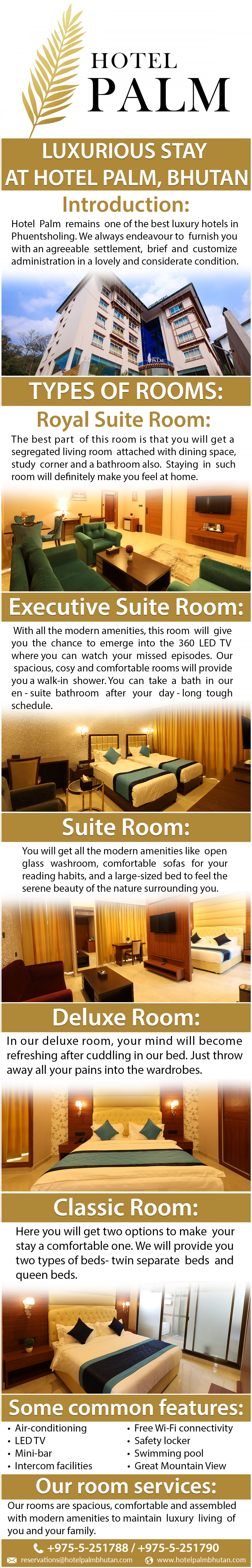 Luxurious Stay at Hotel Palm Infographic