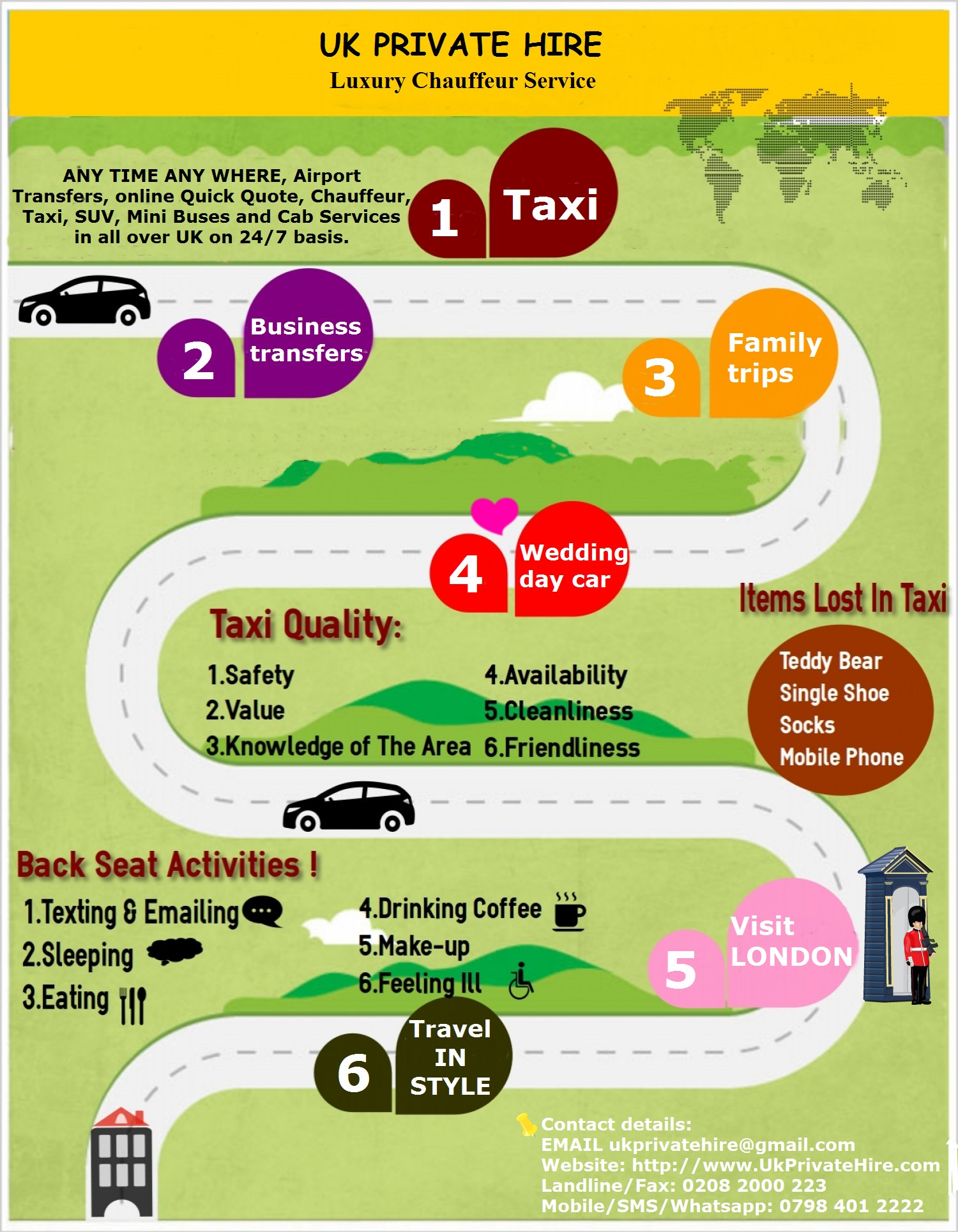 Luxury chauffeur service Infographic