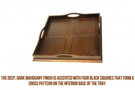 Luxury Round Wood Tray   Buy Wood Serving Tray   Mountain Woods Infographic