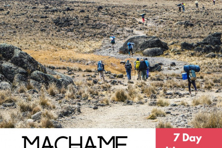 Machame Route Itinerary  Infographic