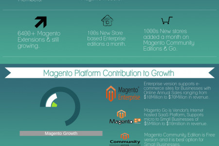 Magento - Best E-Commerce Solution Infographic