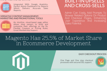 Magento – The Most Suitable CMS for Ecommerce Development Infographic