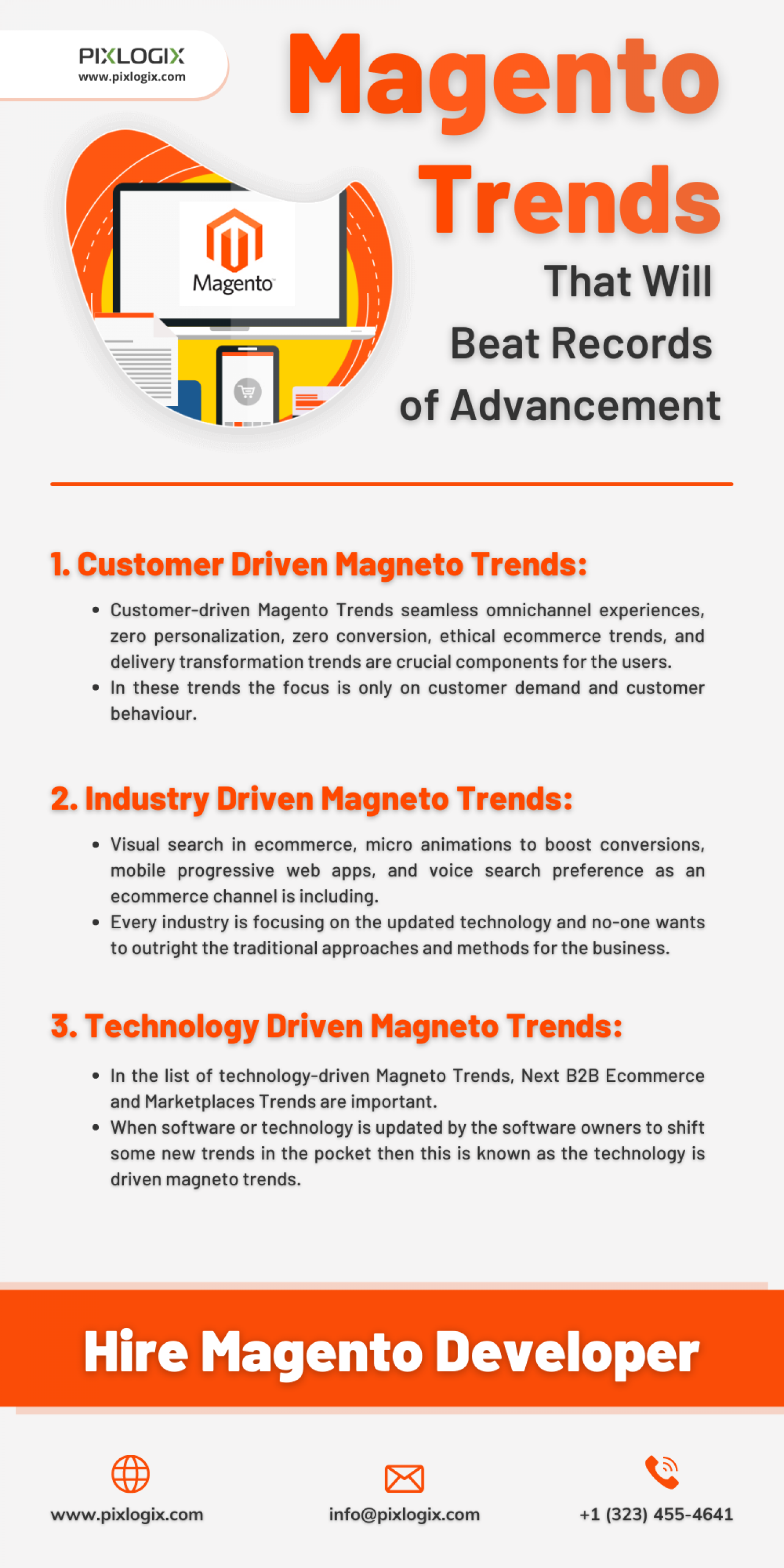 Magento Trends That Will Beat Records of Advancement Infographic