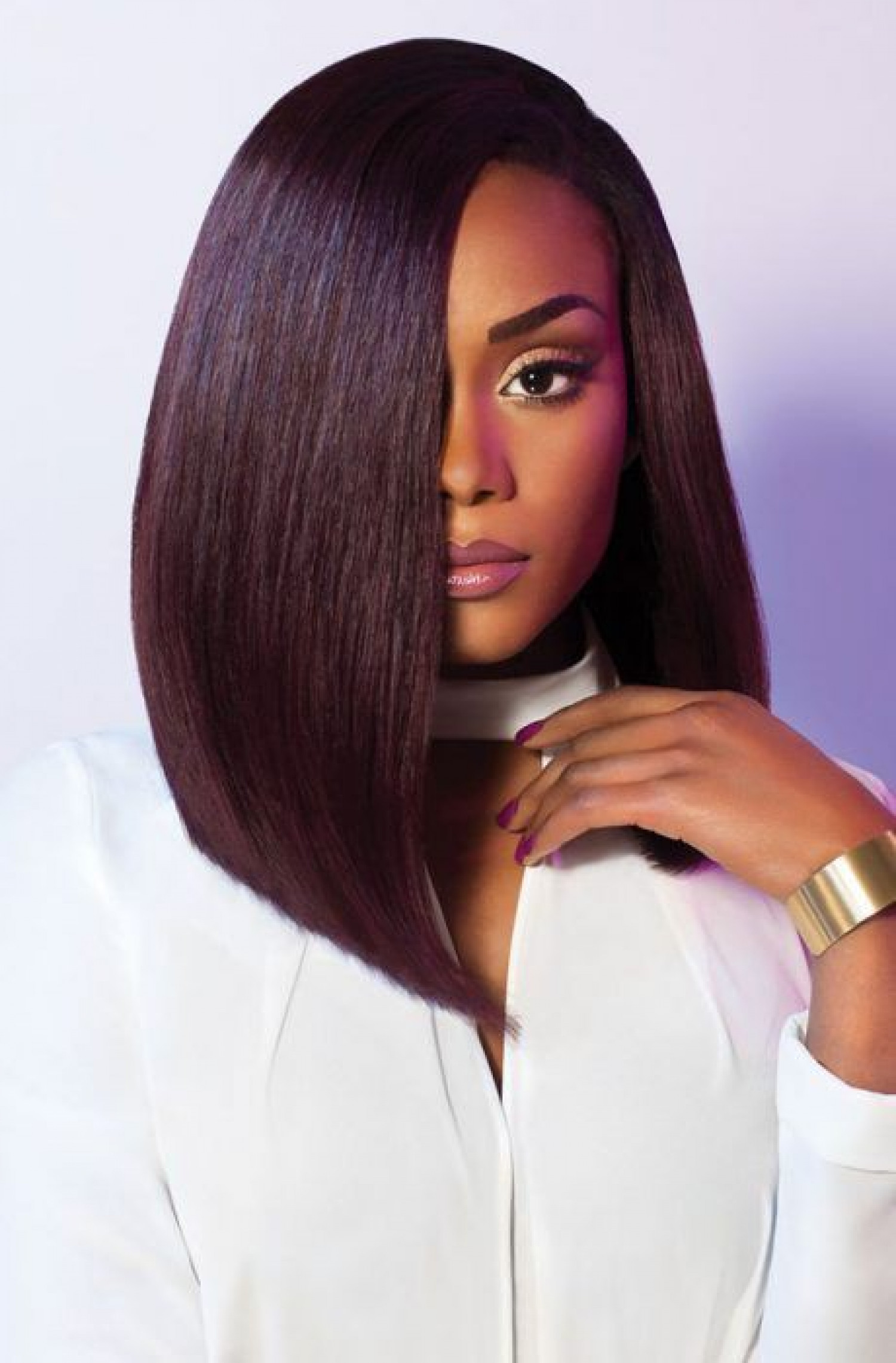Magnificent Shoulder Length Hairstyles For Black Women Visual Ly