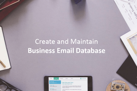 Maintaining Business Email Database Infographic