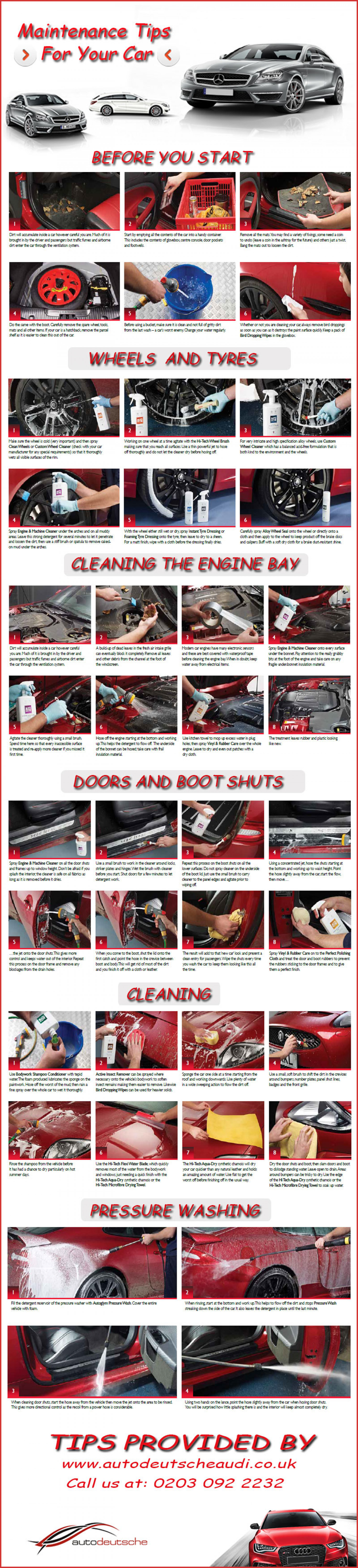Maintenance Tips For Your Car Infographic