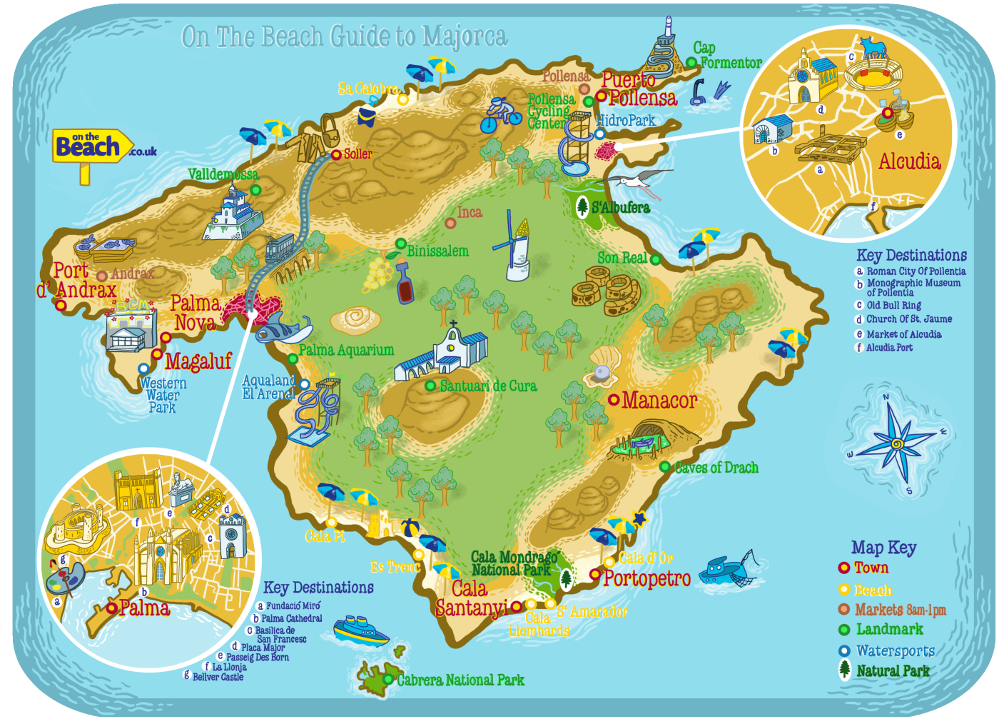 tourist map of majorca top rated tourist attractions in majorca
