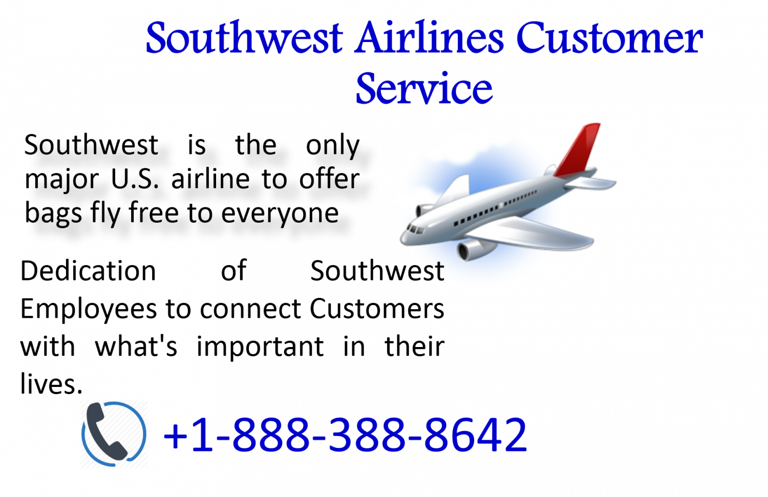 Make advance reservations and various benefits with Southwest Airlines Customer Service Infographic