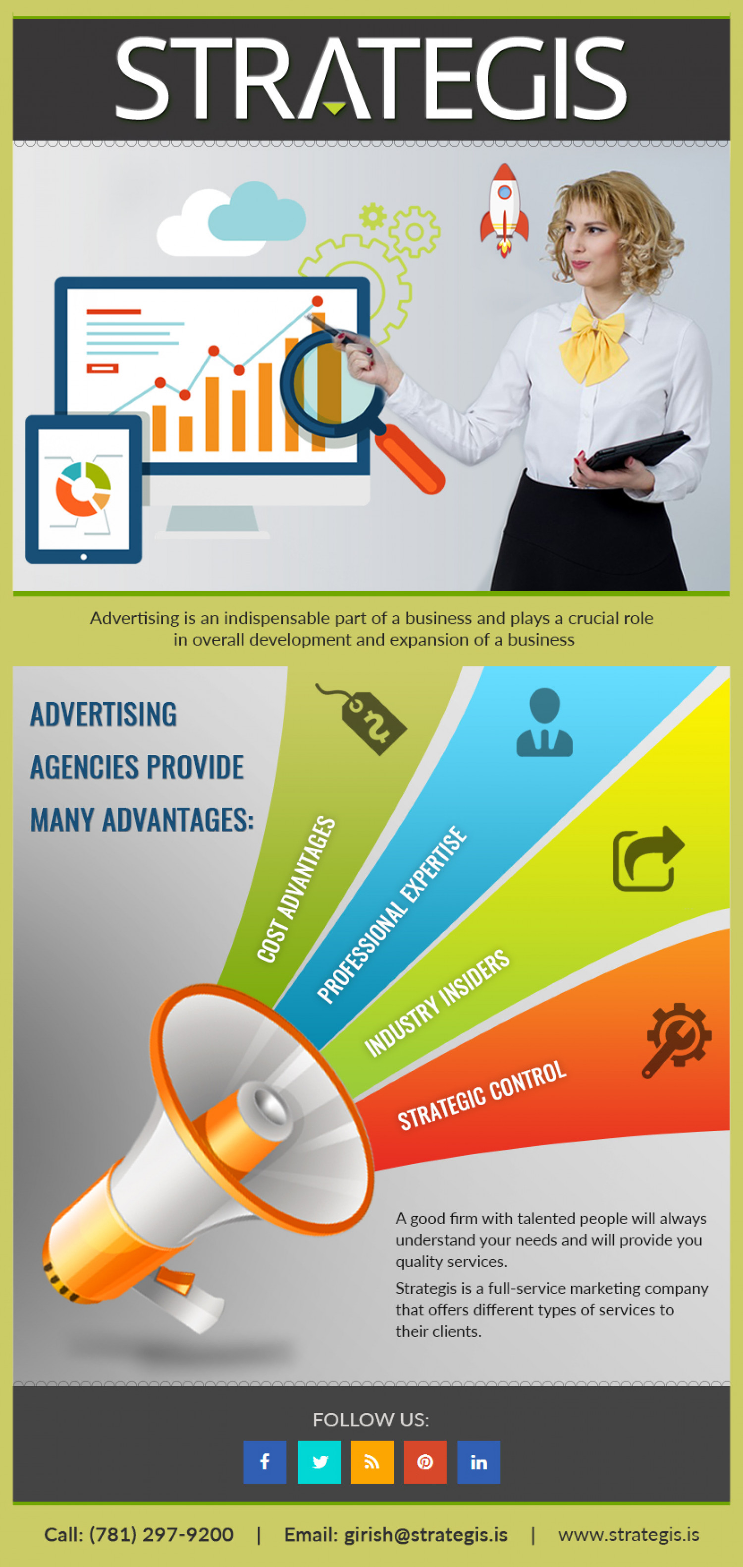 Make an ad with the Advertising Firms Infographic