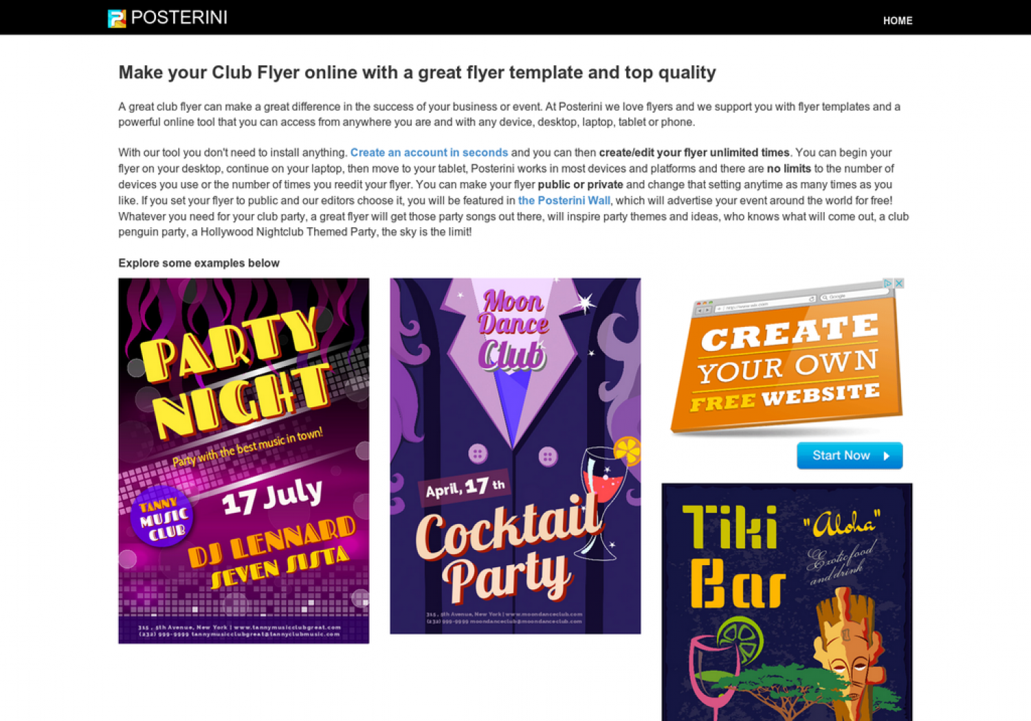 make flyers online visual ly