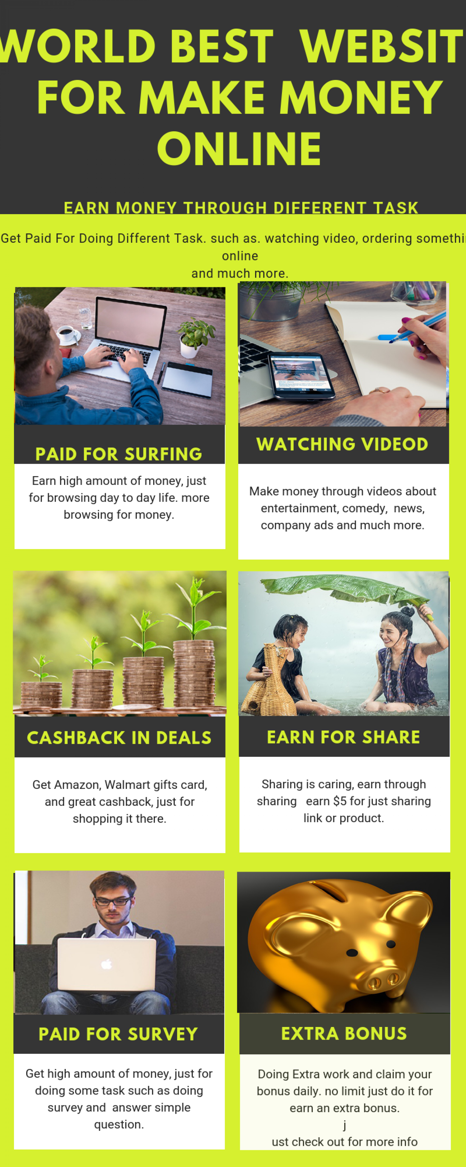 make money fast online in 2019 Infographic
