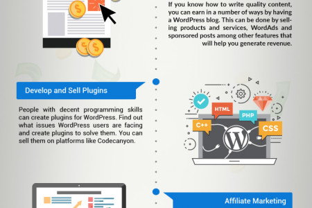 Make Money With WordPress Through These 9 Proven Ways Infographic