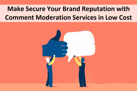 Make Secure Your Brand Reputation with Comment Moderation Services in Low Cost Infographic