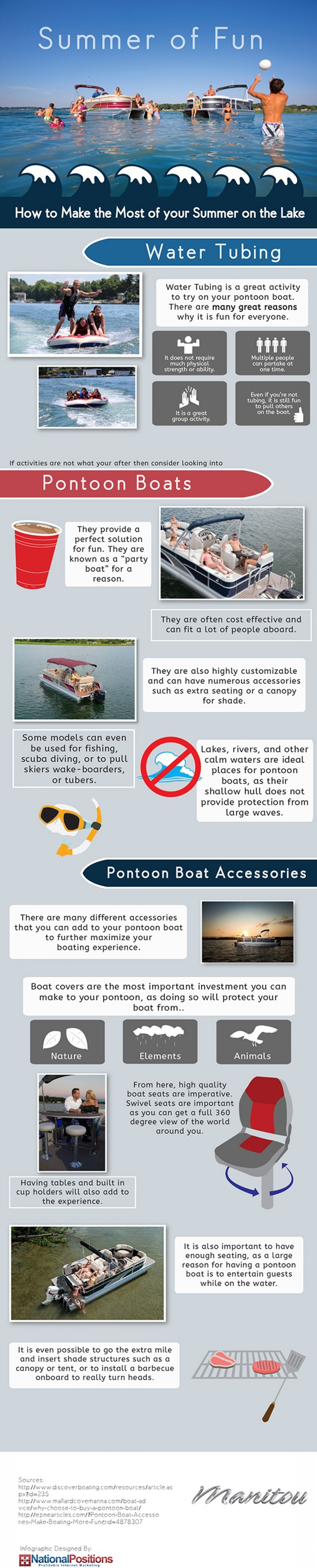 Make the Most of your Summer on the Lake Infographic