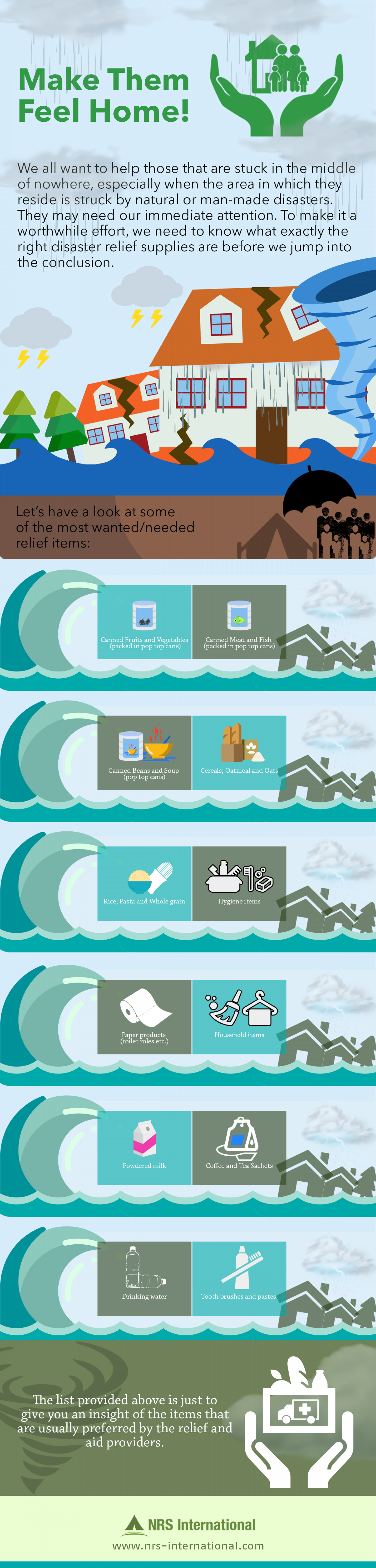 Make Them Feel Home - Non-food Items Infographic