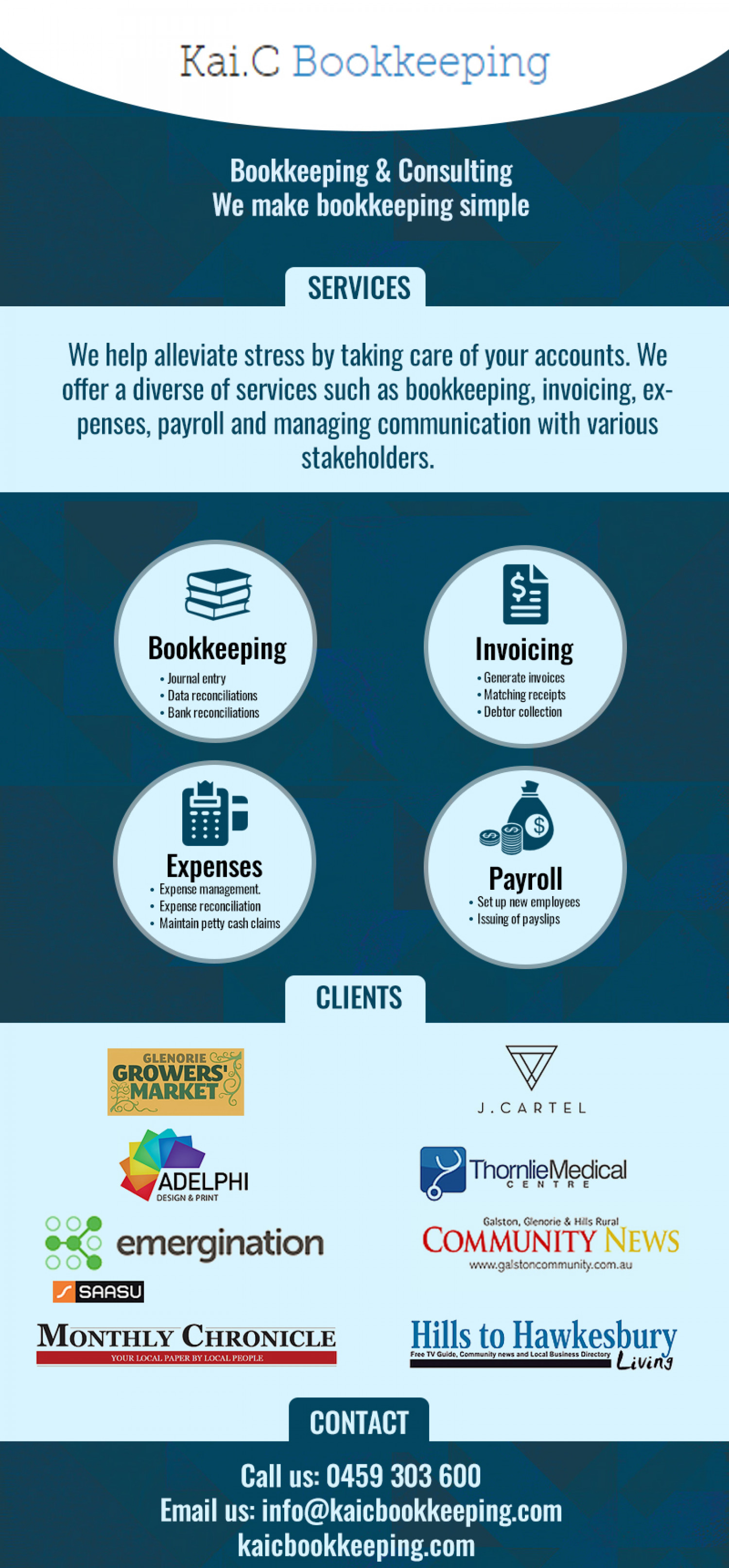 Make Your Bookkeeping Simple With Professional Accountants Infographic
