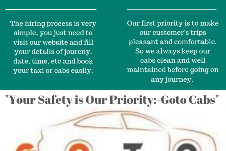Make your trip comfortable and safe with Goto Cabs! Infographic