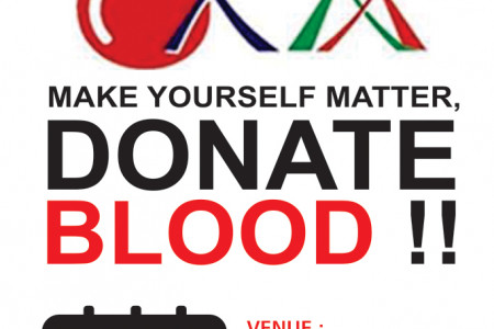 Make Yourself Matter, Donate Blood !! Infographic