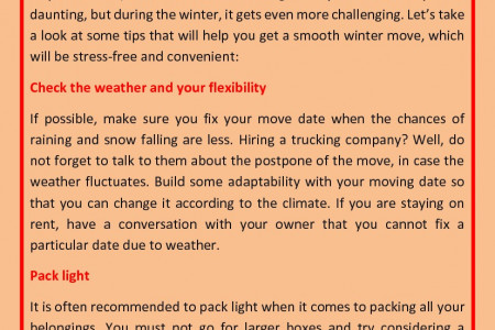 Making A Move In Winters? Here Are Some Things You Must Consider... Infographic
