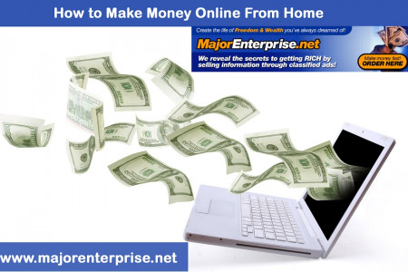 Making Money Online by Posting Classifieds Infographic