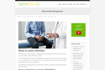 Male infertility - Men fertility Management Infographic