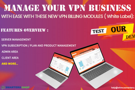 MANAGE YOUR VPN BUSINESS WITH EASE WITH NEW VPN BILLING MODULE Infographic