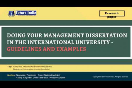 Management Dissertation Writing Guidelines and Examples for International Universities - Tutorsindia.com for MyDissertationHelp Infographic