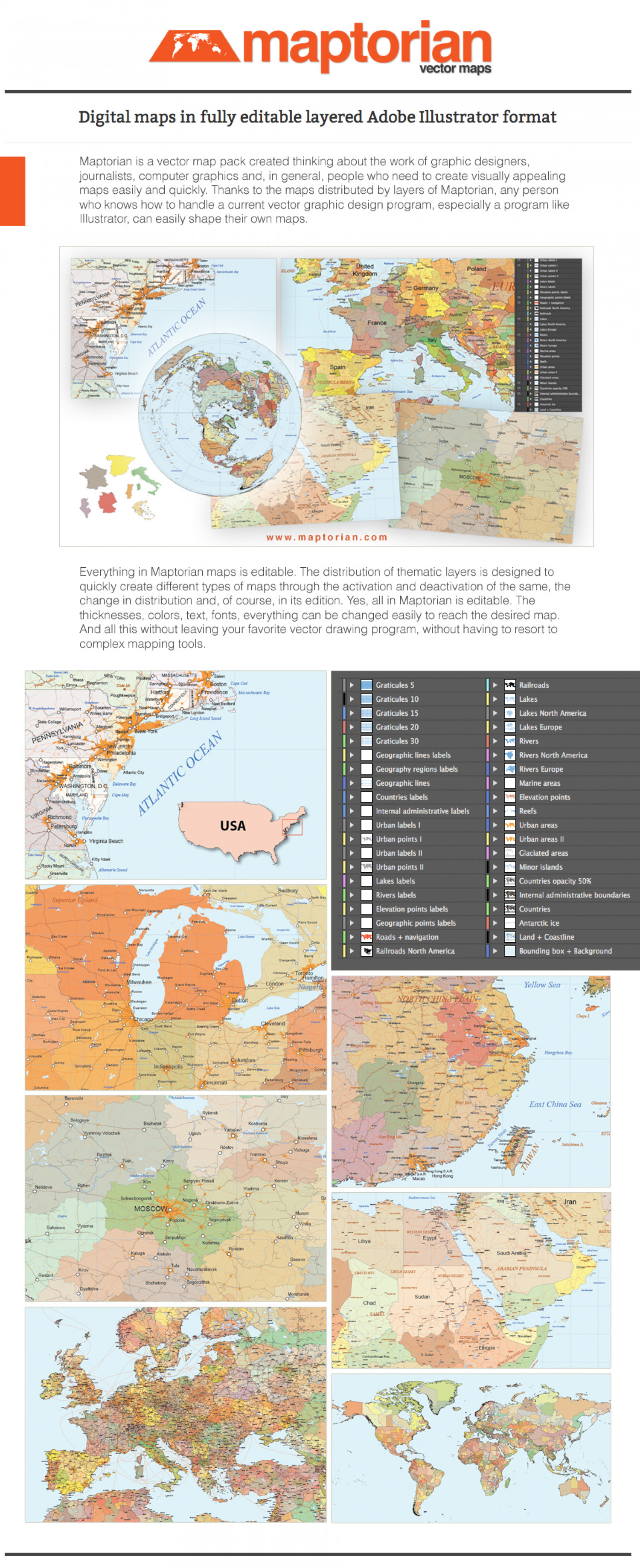 Maptorian vector maps Infographic
