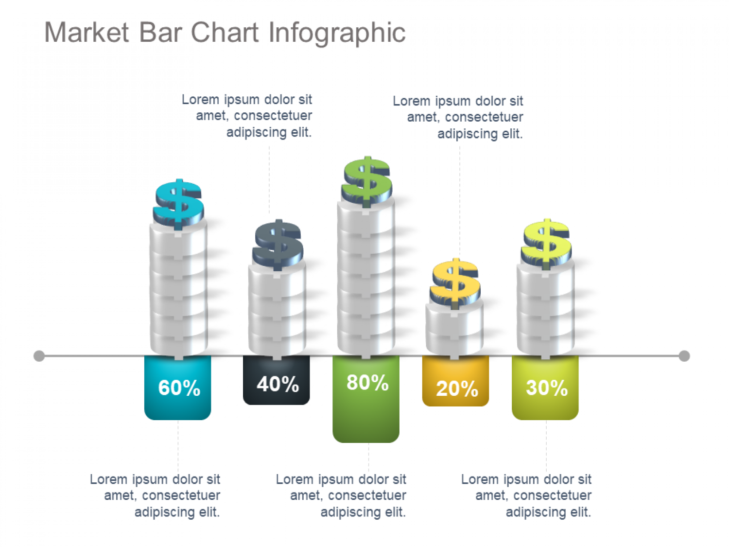 Market Share Bar Chart Template Infographic